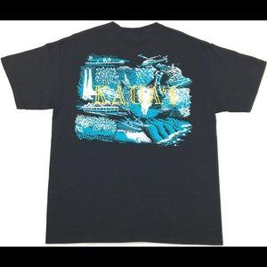New W/Tag Kauai 2-Sided Puffy Print Graphic Shirt